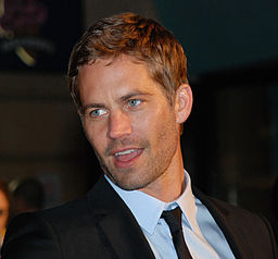 Paul Walker at the Fast & Furious premiere at Leicester Square.